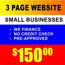 3 Page Custom Designed Small Business Website & Hosting - Mobile Device Friendly