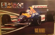 Nigel Mansell Williams F1 1992 Racing.First Time on Ebay! Rare Car Poster