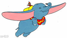 "7"" DISNEY DUMBO ELEPHANT EYES CLOSED  CHARACTER  PEEL STICK WALL BORDER CUT OUT"