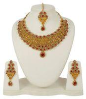 Indian Necklace Jewelry Bollywood Wedding Designer Gold Plated Fashion Set