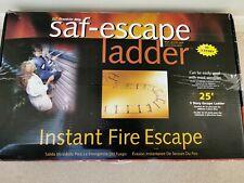 Saf-Escape Ladder Instant Fire Escape 25' Foot 450Kg 3 Story