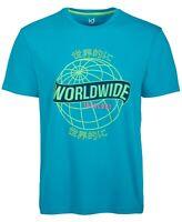 Ideology Mens T-Shirt Blue Size Large L Crewneck Worldwide Graphic Tee $25 #019