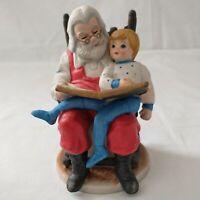 Vtg Spirit of Christmas Santa With Child Figure Figurine Bisque Porcelain 1982