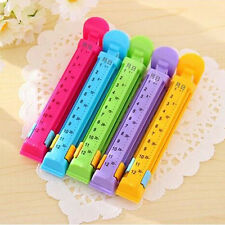 Dated Sealing Bag Clips Date Kitchen Seal Clips Plastic Bag Snack Food Clip 5pcs