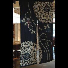 AA95, Japanese Noren, cotton, blue door way curtain, dragonflies