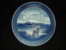 Vintage Christmas Plate - 1968 -Royal Copenhagen - Denmark - The Last Umiak