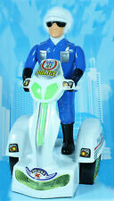 New Battery Operated Police Kids Super Motorbike Light & Music 360° Spin Toy UK