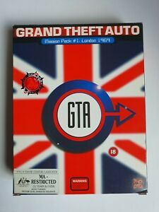 Big Box PC Game - Grand Theft Auto Mission pack #1 London - GTA London - Rare🔥
