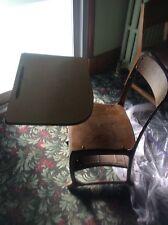 Vintage School Student Desk & Chair