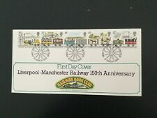 GB 1980 Liverpool-Manchester Railway FDC Railway Book Club Manchester Pmk(F310)