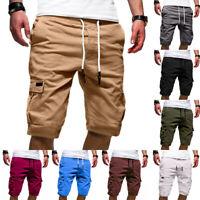 Men's Sport Gym Slim Fit Trousers Loose Sweatpants Drawstring Shorts Pant Bottom
