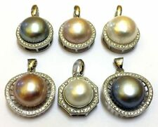 Pearl CZ Costume Necklaces & Pendants