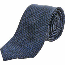 TED BAKER Blue Silk Reptile Effect Tie