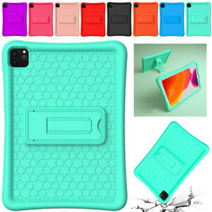 """Kids Soft Silicone Stand Case Cover For iPad Pro 12.9"""" Air 2 9.7"""" 5th 6th Gen"""