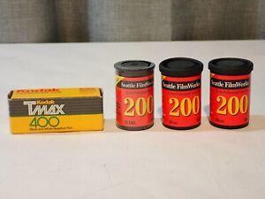 Lot of 4 Vintage Camera Film Kodak Tmax 400 Seattle Film Works 200