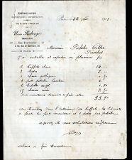 """PARIS (XII°) EMBALLAGE / CONDITIONNEMENT pour TRANSPORT """"Ursin ROBERGE"""" en 1903"""