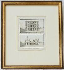 18th/19th c. Pen/ Ink Drawing Italian Architecture, Abbott & Holder Provenance