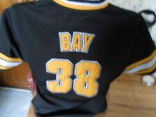 Vintage Jason Bay Pittsburgh Pirates MLB True Fan Black Jersey Youth L Large