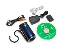 """JVC GZ-HM30BUS HD Memory Camcorder 1920x1080 40X Optic Zoom 2.7"""" LCD HDMI BLUE A"""