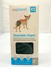 So Phresh Washable Diaper for Dogs 2pk Size XS Fits Up to 8lbs