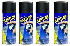 (4) Plasti Dip Black Matte Liquid Wrap Removable Rubber Coating Aerosol Can