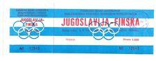 UNUSED TICKET YUGOSLAVIA vs FINLAND Olympic teams football game Yugoslavia 1987