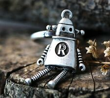 Lonley Robot Ring Antique Retro Funny Fancy Toy Jewelry Size Adjustable Gift