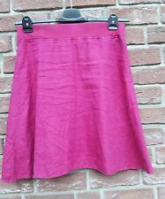 Sommerrock Leinen Street One Gr.42 pink Strickbündchen