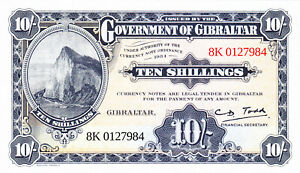 "10 SHILLINGS UNC BANKNOTE FROM BRITISH GIBRALTAR 2018  ""CELEBRATE WORLD TOURISM"""