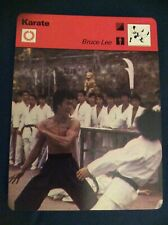 BRUCE LEE 1977 Sportscaster Card KARATE