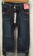 Gymboree Girls Size 5 Denim 3/4 Jeans Adjustable Waist New BNWT Casual