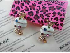 E112 Betsey Johnson Little Candy Lolly Sweets with Crystal Party Earrings US