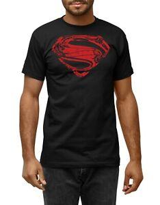 Superman Chest T-Shirt Hope Logo Unisex Fit Black Top