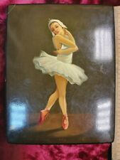 Vintage Old Soviet Fedoskino1963 Hand painted Lacquer Box Signed By The Artist
