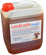 Lein&Lachsöl, Barföl, 5 L Kanister, Omega-3, -6, -9, Barfen, Hunde (4,18€/1L)