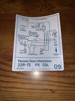 1988 Toyota Pickup Truck//4runner Vacuum Diagram Decal Repro Sticker FED 22re D5