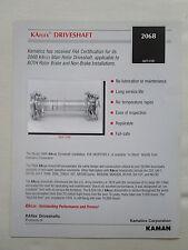 2000'S DOCUMENT KAMAN KAMATICS KAflex DRIVESHAFT BELL 206B HELICOPTER