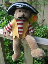"Chantilly Lane ""Hot Hot Hot"" Animated Singing CAPT SALTY PIRATE BEAR & PARROT"