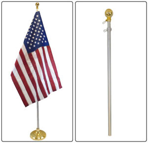 8ft Indoor Flag Pole Bal Topper 8' Telescoping Flag Pole - Pole Only