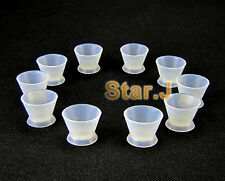 10pcs Dental Lab Silicone Mixing Bowl Cup Flexible Resin Cement Tool