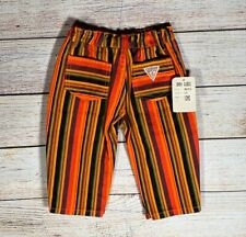 Vintage RARE Baby Guess Wear 12 Month Striped Pants Bottoms NEW with Tags