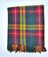 New BNWT Scottish Throw Large Wool Tartan Rug Modern Modern Buchanan Blanket