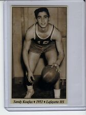 Sandy Koufax '51 Lafayette HS Basketball card Tobacco Road series #18