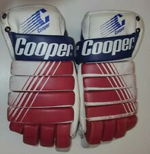 Vintage Cooper Asl50 Ice Hockey Gloves Adult leather Usa Olympics Red White Blue