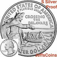 2020 S ONE SILVER Quarter Mirror Proof WEIR FARM HISTORIC CONNECTICUT