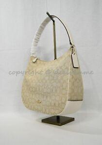 NWT Coach F29959 Zip Shoulder Bag in Signature Jacquard Hobo/Shoulder Bag
