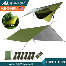 10'x10' Hammock Rain Fly Tent Tarp Waterproof Camping Sun Screen Shade Shelter