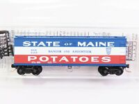 N Scale Micro-Trains NSC MTL BAR Bangor Aroostook 40' Reefer 5157 Maine Potatoes