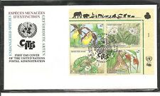 United Nation SC # Vienna 199a Endangered Species FDC. Inscription BLK4. UNPA
