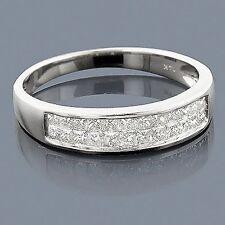 Gioiello Vero Anello Diamanti 585x Oro Bianco Di Donna